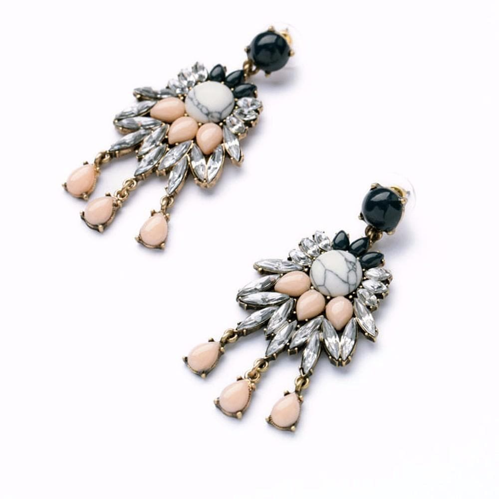 black and cream earrings