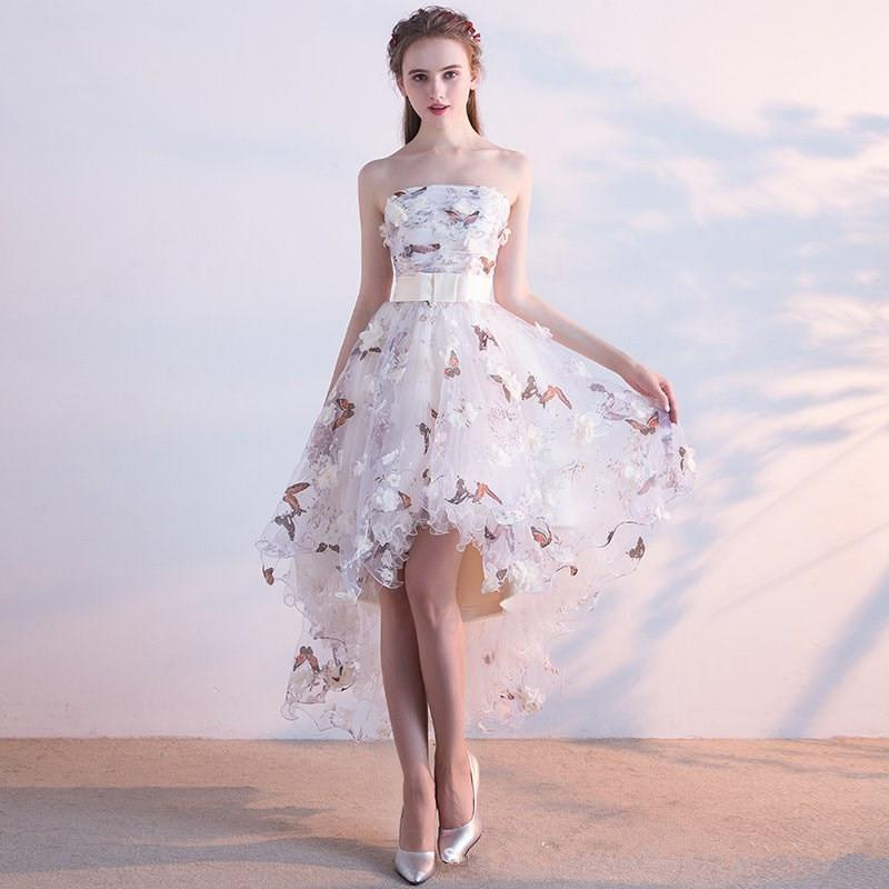 High-Low Asymmetry Vintage Floral Dress
