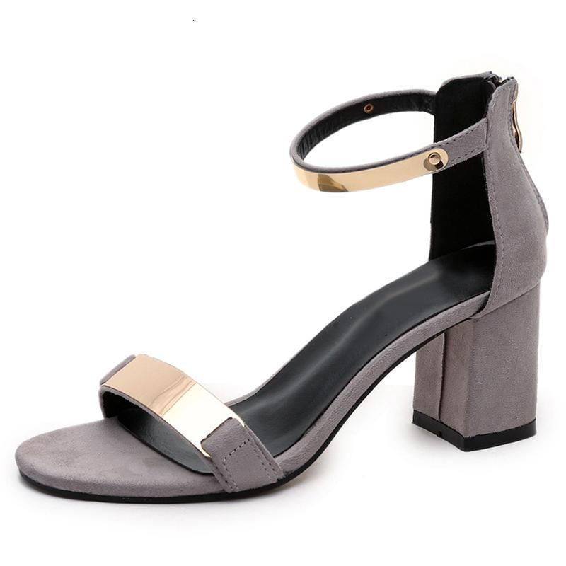 High Shine Chic Sandals Gray