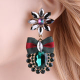 Flower Pineapple Big Earring Green