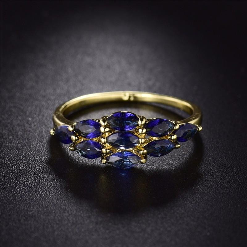 Vintage Blue Crystal Ring