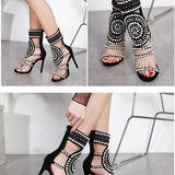 String Beads Ethnic Sandals