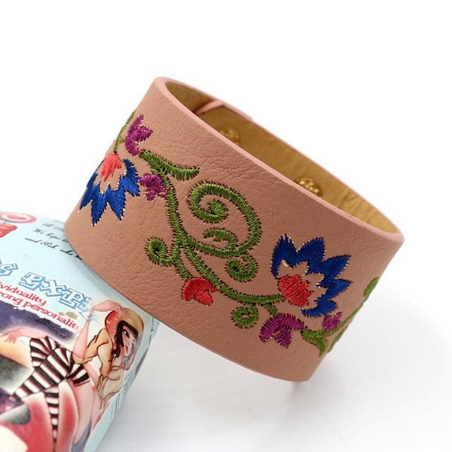 Flower Embroidery Stylish Bracelet Bage