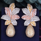 Luxury Leaf Flower Drop Fashion Earrings