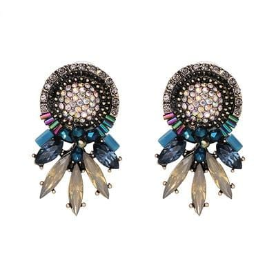 Bohemian Colorful Charm  Statement Stud Earring