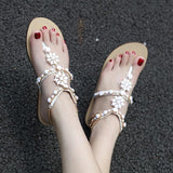 Rhinestones Chains Gladiator Flat Sandals
