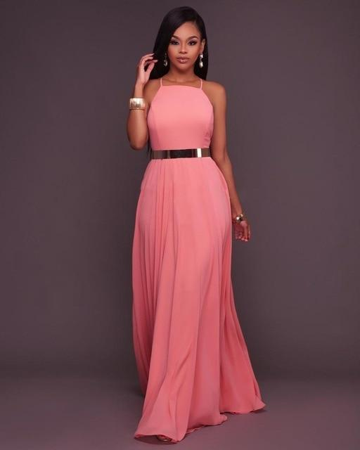 Sexy Off Shoulder Backless Long Party Dress