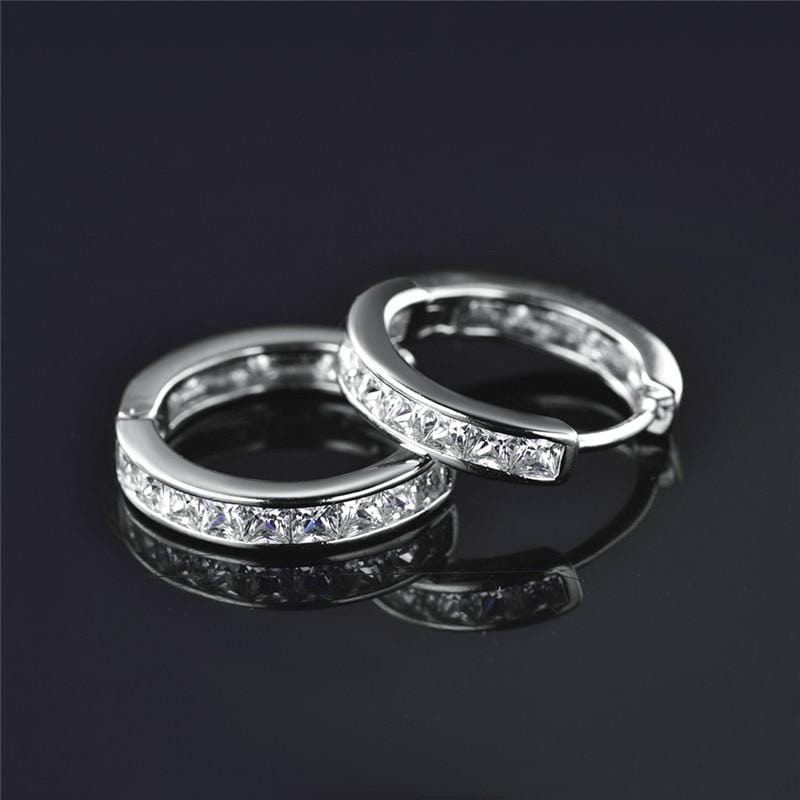 Cute Princess Hoop Earrings Silver