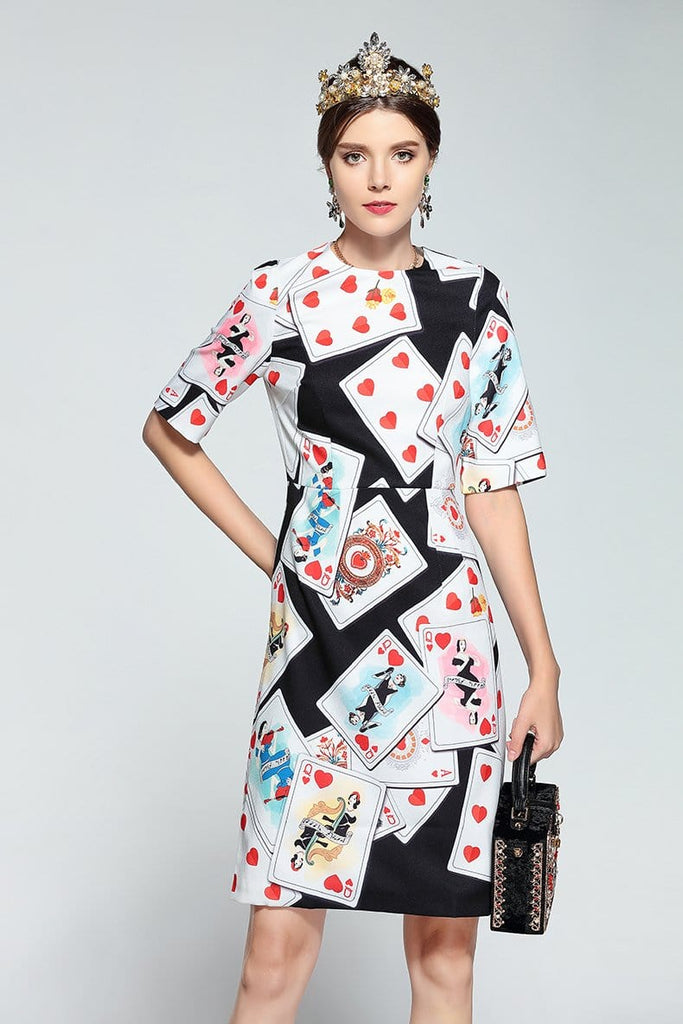 Runway Designer Vintage Dress Multi