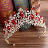 Silver Crystal Rhinestone Bridal Crown