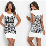 Short Vintage Black And White Dress