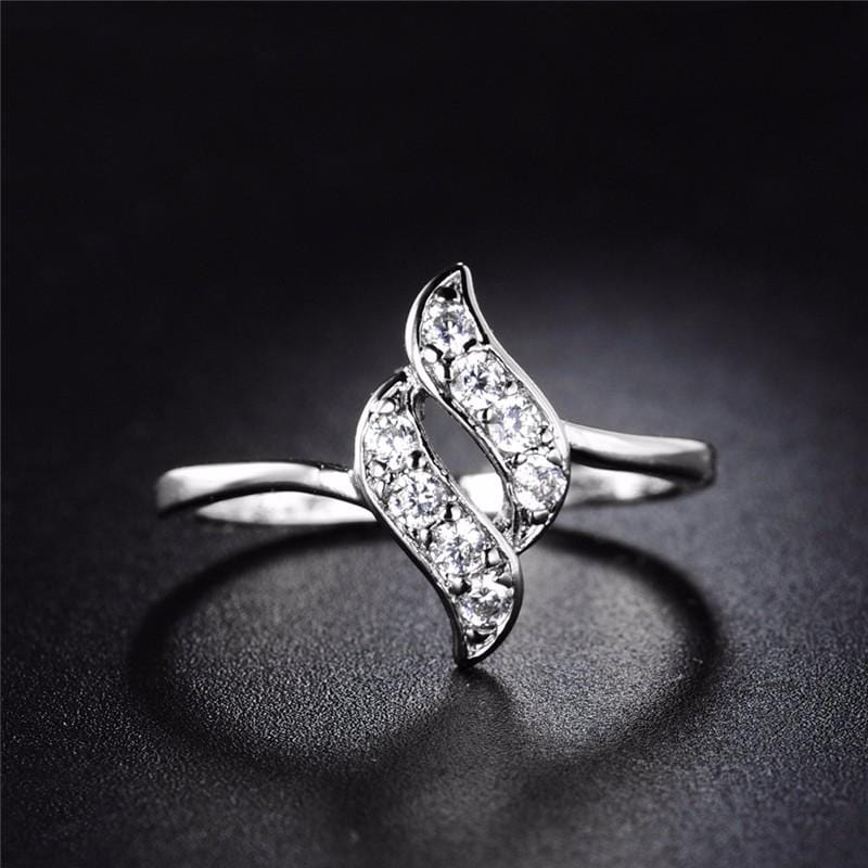 Silver Color Infinity Shape Ring