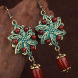 Handmade Flowers Metal Painting Earrings