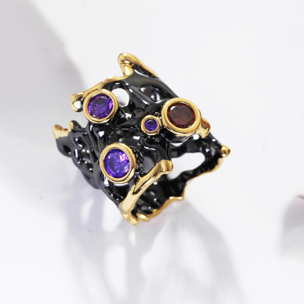 Vintage Gothic Black Fashion Ring