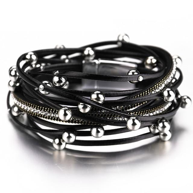 Bohomian Style Beads Multilayer Leather Bracelet