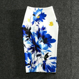 Floral Print Stretchy Pencil Skirt