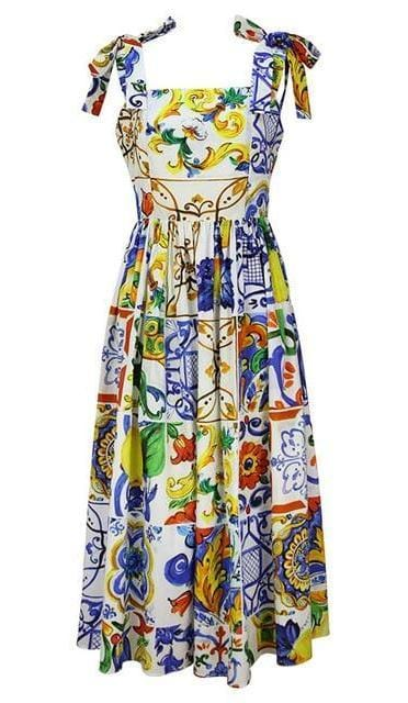 Gorgeous Spaghetti Strap Floral Print Dress