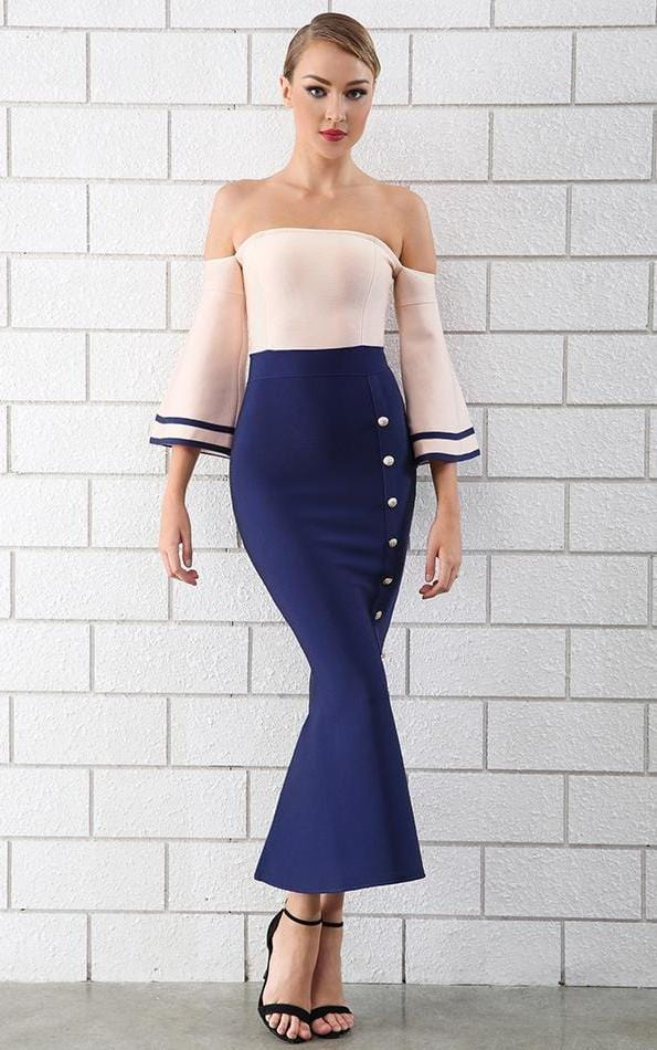 Sexy Mermaid Blue Skin-fit Dress