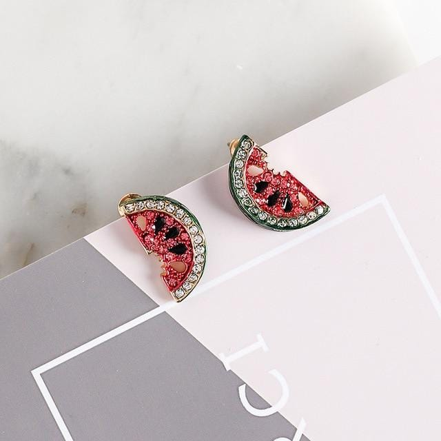 Lovely Cute Small Watermelon Earrings