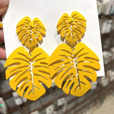 Big Leaf Fashion Earrings