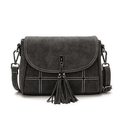 Cute Tassel Embelished Small Bag Black
