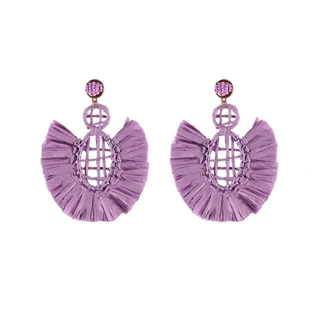Colorful Stylish Big Pendant Drop Earrings