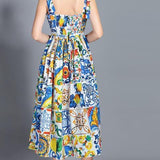 Gorgeous Spaghetti Strap Floral Print Dress Multi