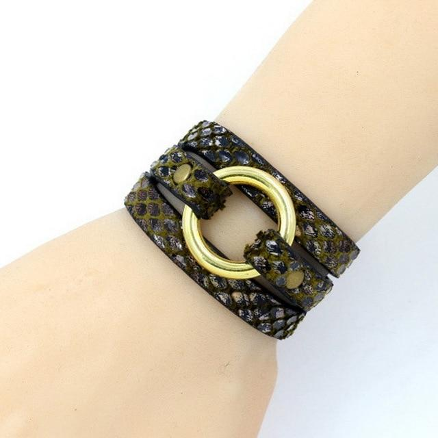 Multi-Strap Stylish Leather Bracelet Black