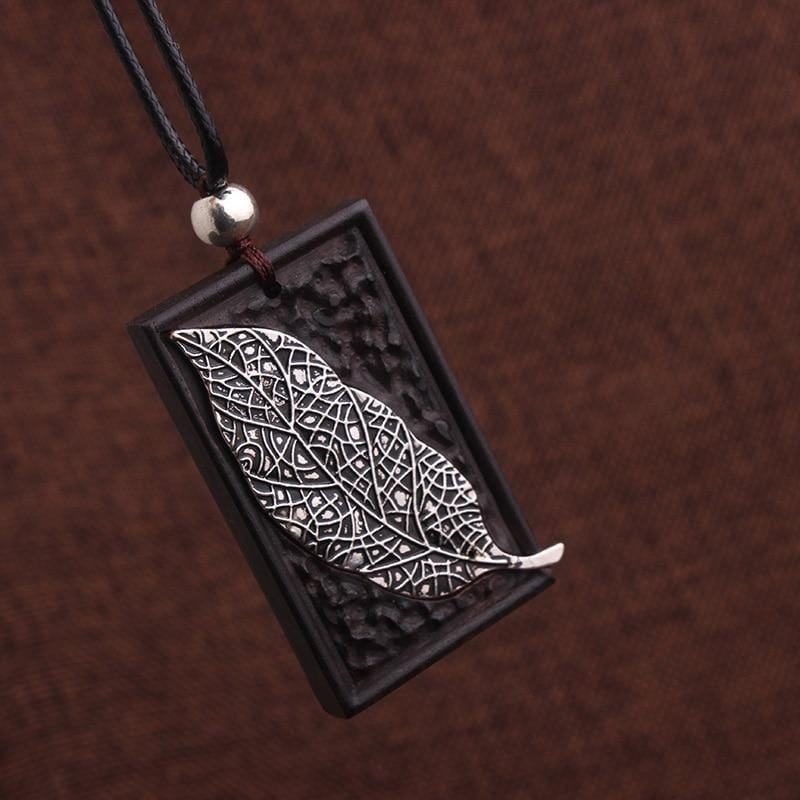 Vintage Ethnic Leaves Copper Pendants Necklace