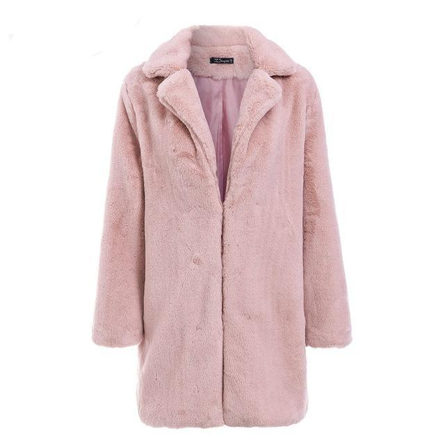 Winter Blush Faux Fur Coat