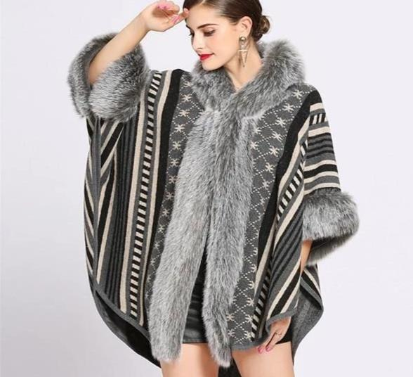 Free Size Long Sleeves Poncho