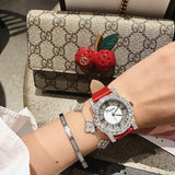 Diamond Rhinestone Fashion Leather Watch