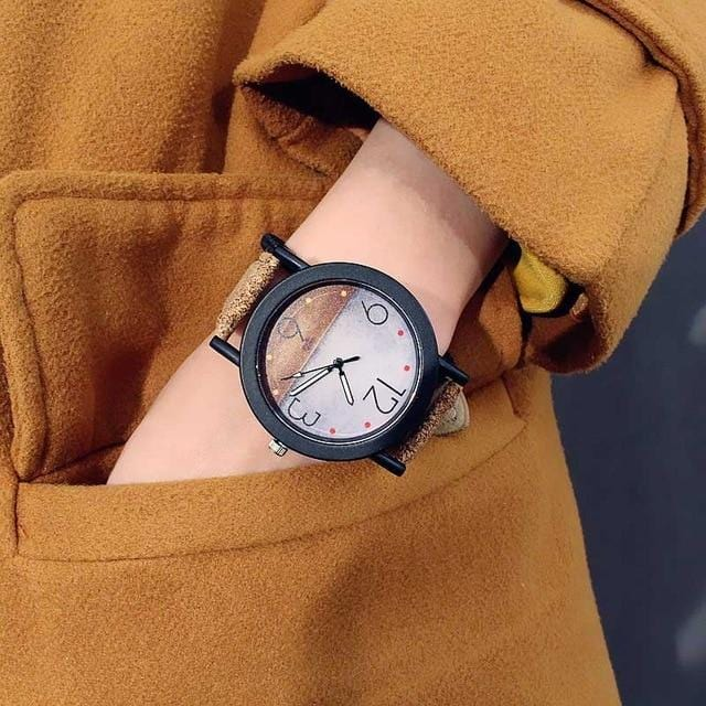 New Colorful Trend Grain Creative Wrist Watch