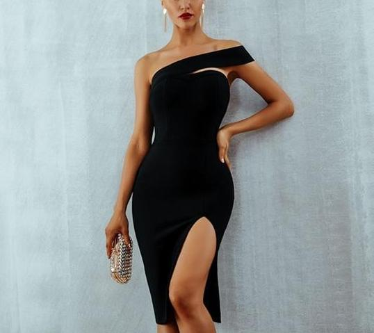 One Shoulder Elegant Bandage Dress