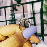 Fashion Oval Silver Zirconia Women Ring