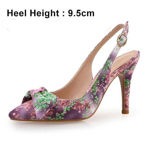 Butterfly-Knot Emroidered Party Wear Sandals
