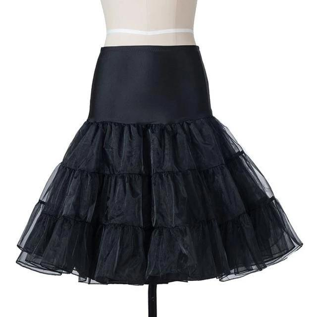 Unique Lace Dress Pettiskirt Black