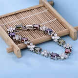 Crystals Charm Bracelets Multi Silver