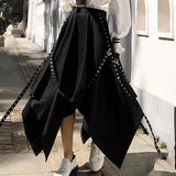 Asymmetrical Pleated High Waist Skirt