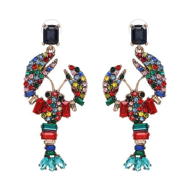 Bohemian Multicolor Crystal Drop Earrings