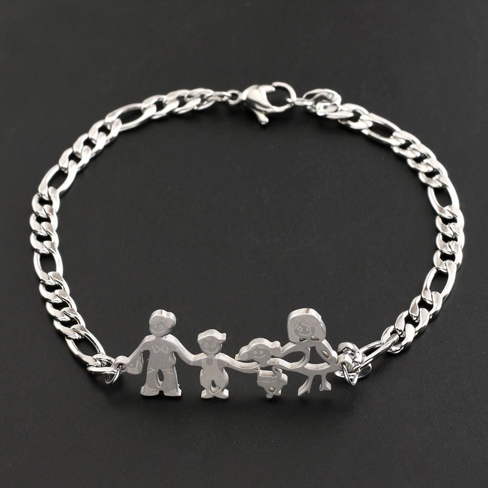 Stainless Steel Charm Adjustable Silver Bracelet