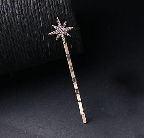Rhinestone Star Moon Design Hair Pin