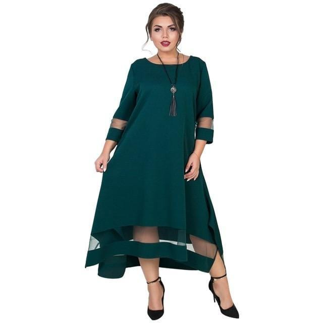 Plus Size Elegant Long Dress