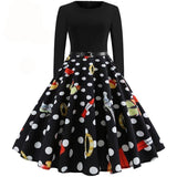 Casual Patchwork Elegant Party Dress Black