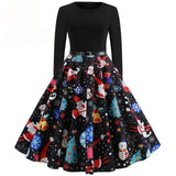 Casual Patchwork Elegant Party Dress