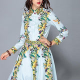 Floral Print Runway Designer Dress