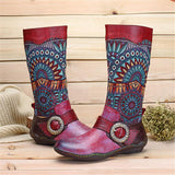 Bohemian Mid-calf Motorcycle Boots For Women