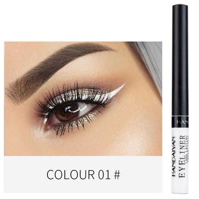 Waterproof 12 Color Easy Liquid Eyeliner