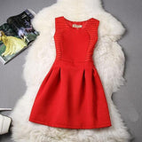 Cute Short Lace Dress Red