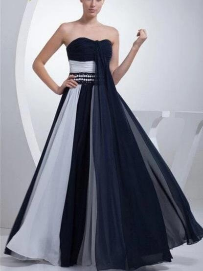 Chiffon Elegant Colorful Formal Long Dress